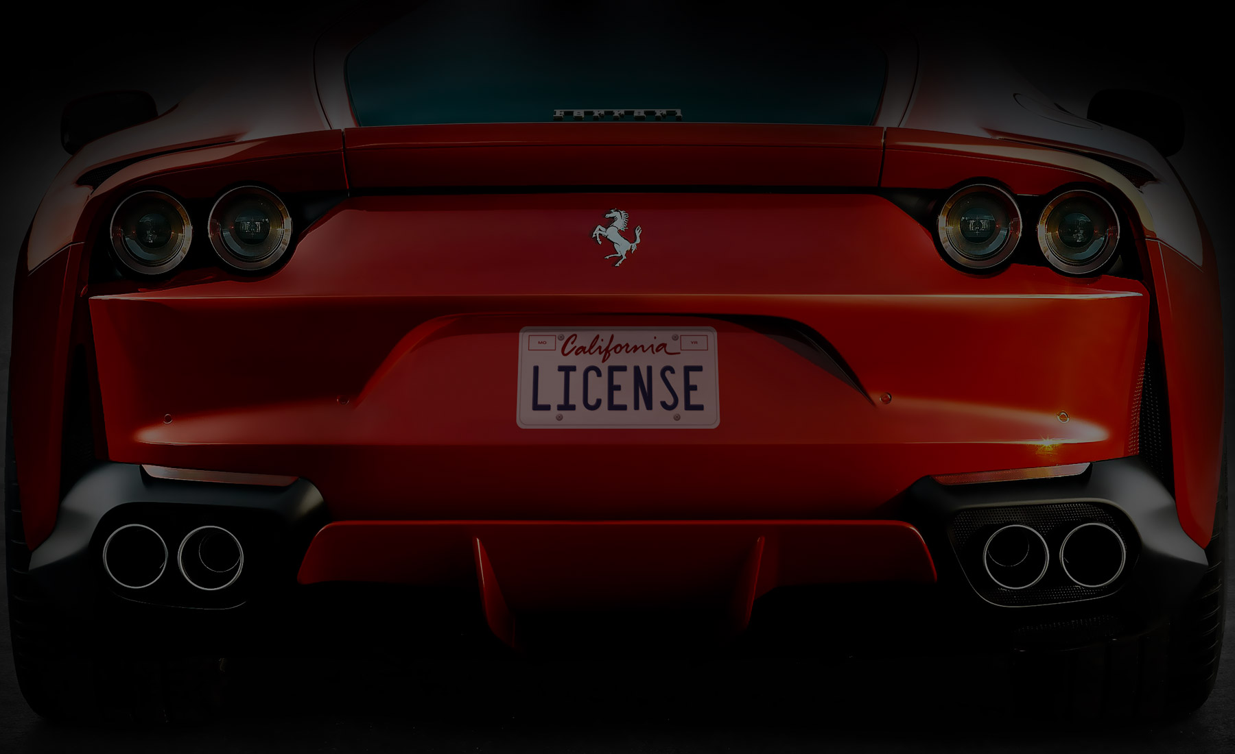 adhesive license plate replica